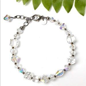 Crystal Swarovski clear glass 925 bracelet